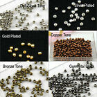 Wholesale Lots 1000pcs 2.4mm Seamless Metal Spacer Bead 6 Color