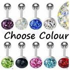 SURGICAL STEEL AUSTRIAN CRYSTAL FERIDO DOME JEWELLED TONGUE BAR / STUD  *SALE*
