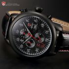SHARK LUCKY SEVEN Limited Edition Date Day Leather Strap Quartz Mens Gift Watch
