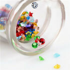 120 PCS Spacer Beads Crystal Glass Floating Charms Locket DIY Three Shapes gifts