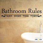 Bathroom Rules Room Wall Art Stickers Decals Vinyl Decor Home Mural Quote
