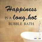 Long Hot Bath Happiness Bathroom Wall Art Sticker Decals Vinyl Decor Mural Quote
