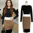 NEW Spring Fashion Women Bodycon Long Sleeves Round Collar Dressy Dress TOP