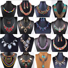 Women Charm Classic Wild Necklace Bib Statement Crystal Fashion Necklace
