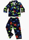Boys Winter Flannel Pant 2pc Pyjamas Pjs Navy Dinosaurs Size 0 1 2