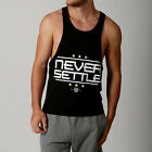 NEVER SETTLE GYM  Singlet Training RACERBACK Y T BACK STRINGER BodyBuilding TANK