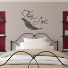Feathers Appear When Angels Are Near Wall Sticker