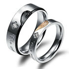 New Couple Stainless Steel unique bands Promise Ring The World Has Changed US