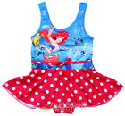 Disney Little Mermaid Ariel Enfants Fille Maillots de Bain Rose Swimsuit 2-9 ans