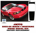 N770 2003-04 FORD MUSTANG - MACH 1 HOOD STRIPE - FACTORY SIZE AND FIT