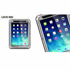 Luxury Shockproof Metal Gorilla Glass Case Cover For iPad 2 4/Air 2/Air/Mini/Pro