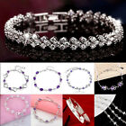 Women`s Fashion 925  Solid Silver Chain Bracelet Christmas Gift Luxury