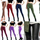New Sexy Ladies Fashion Women Faux Leather Stretch Pants Trouser Tights 8 Colors