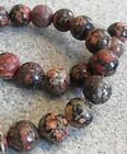 LEOPARD SKIN AGATE ROUND BEADS 4 SIZES 4mm (48 BEADS), 6mm (30) 8mm (24) 10mm 20