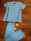 #4029 Brand New Stylish Nursing Scrubs Set Malibu Blue Black Nurse Uniform Scrub