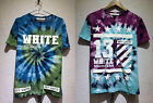 Cotton Solid Print Bandhnu TIE DYE Off White C/O Virgil Abloh 13 T Shirt Tee Top