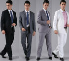 Good Quality Formal Mens Suits 2 Buttons Wedding Groom Tuxedos Set 7 Colors