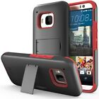 New Vena Dual Layer Hybrid Shockproof Case Cover Screen Protector For HTC One M9