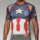 ** CAPTAIN AMERICA ** Under Armour Men's Alter Ego Compression Shirt All Sizes