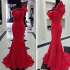 2015 New Sexy Women's One-Shoulder Prom Dress Bowknot Evening Formal Ball Gown