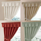 "Plain Dyed Half  Panama Kitchen Pelmet Valance In 7 Colours. 92"" & 132"" Wide"