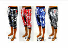 Men's SOUTHPOLE royal blue red black / white 3/4 joggers shorts style 15121