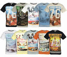 Soul Star Men's Photo Print Cotton T-shirt Graphic Printed Design Top City