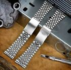 Folded Stainless Steel Watch Strap Jubilee Straight Ends 20mm 22mm