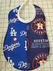 Handmade House Divided Baby Bibs made with NEW MLB fabric