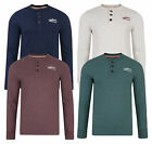 Tokyo Laundry New Men's Long Sleeve Henley Shirt Plain Jersey Top DD4