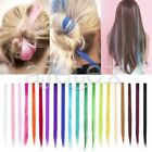 Coloré 1pc Mèches de Cheveux Extension Perruque Bicolore Clip Raide 40/60cm