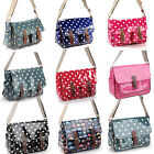 LADIES OILCLOTH LARGE SATCHEL MESSENGER CROSSBODY BAG SHOULDER BAG HANDBAG
