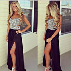 HIGH Split Sexy Floral LONG Homecoming Evening Gown Party Prom Masquerade Dress