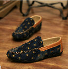 moccasins Soft Denim Men's Holes Slips On Pumps Leisure Loafers Driving Shoes