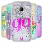 HEAD CASE WANDERLUST STATEMENTS SILICONE GEL CASE FOR HTC ONE MINI 2
