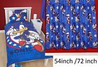 "Sonic The Hedgehog Kids Single Bed Reversible Duvet Cover / Curtain 54"" / 72"""