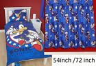 "Sonic Hedgehog Kids Single Bed Reversible Duvet Cover or Curtain 54""or  72"""
