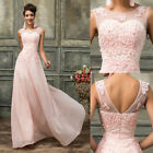 ELEGANT Applique Chiffon Long Wedding Party Gown Prom Evening Bridesmaid Dresses