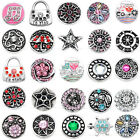1x Snap On Charms Crystal Buttons Fit Punk Pop Buckle Bracelet Jewelry DIY Gift