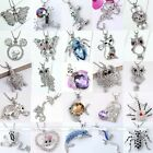 Silver Plated Crystal Aniamal Fish Pendant Jewelry Charm Bead Fit Chain Necklace