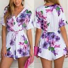 Newest Sexy Women Celeb Floral Print Playsuit Summer Ladies Dress Short Jumpsuit