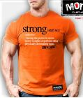 NEW Mens Monsta Clothing STRONG DEFINITION Bodybuilding Weightlifting Tee Orange