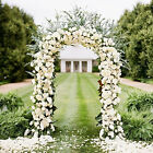 White Metal Arch Wedding Garden Bridal Party Decoration Prom Flower Arbor 7.5 Ft
