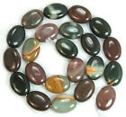 13x18mm Natural Colorful  Imperial Jasper Flat Oval Beads 15.5""