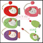 Fish Shape Cotton Fabric Key Chain Cover Holder /  Lucky Cat