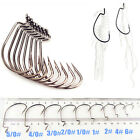 100 Pcs Jig Fishing Worm Hook Fish Steel Bass Tackle Hooks Fishhook #2/0 #3/0