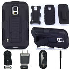 Hybrid Armor Holster Heavy duty Clip Case For Samsung Galaxy S5 Active G870 GIFT