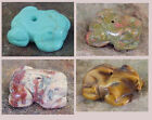 2 Gemstone FROG Fetish Animal BEADS * 1 Pair YOUR CHOICE color/stone
