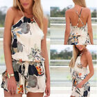 Sexy Women Celeb Floral Print Playsuit Summer Beach Party Ladies Shorts Jumpsuit