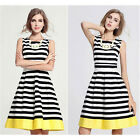 Fashion Womens Sexy Summer Stripe Evening Party Cocktail Casual Short Mini Dress